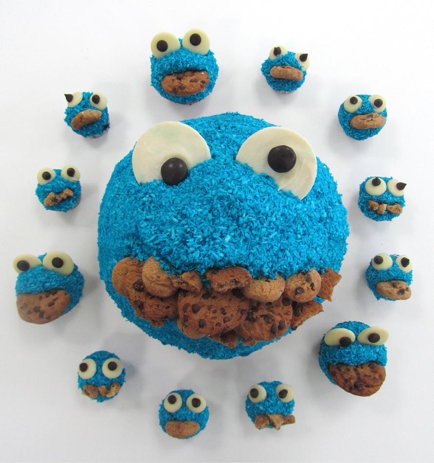 Cookie Monster O'Clock cakes | Frances Quinn