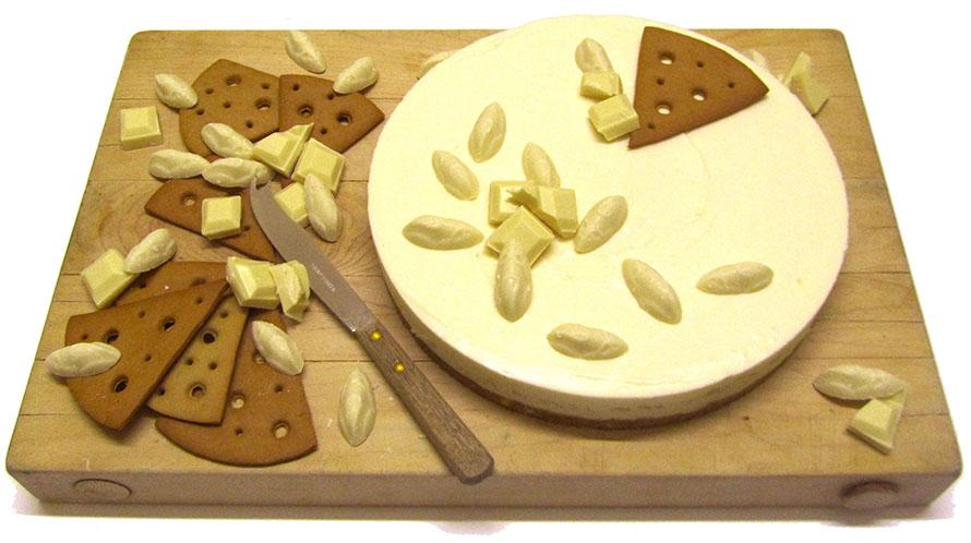 White Choc and Ginger Cheesecake 2