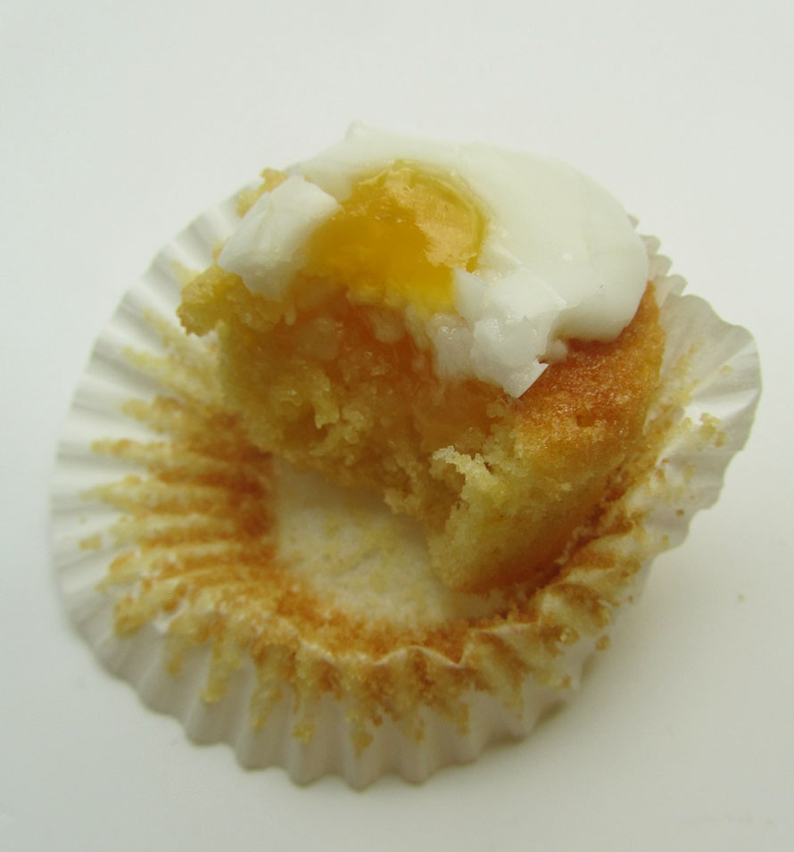 "Easter Egg Cupcakes With ""Yolk"" Centers Recipe — Dishmaps"