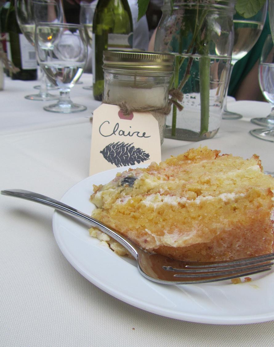 lemon and lavender wedding slice