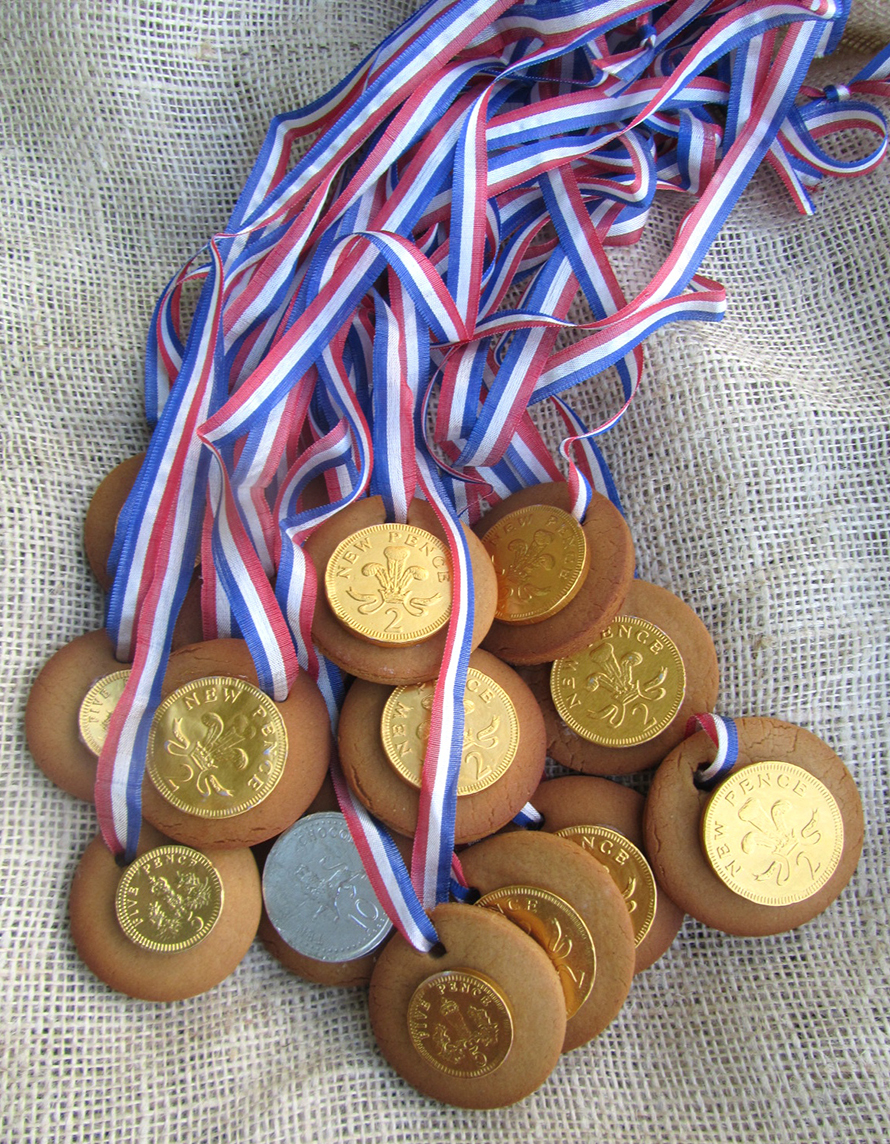 olympic medal biscuits