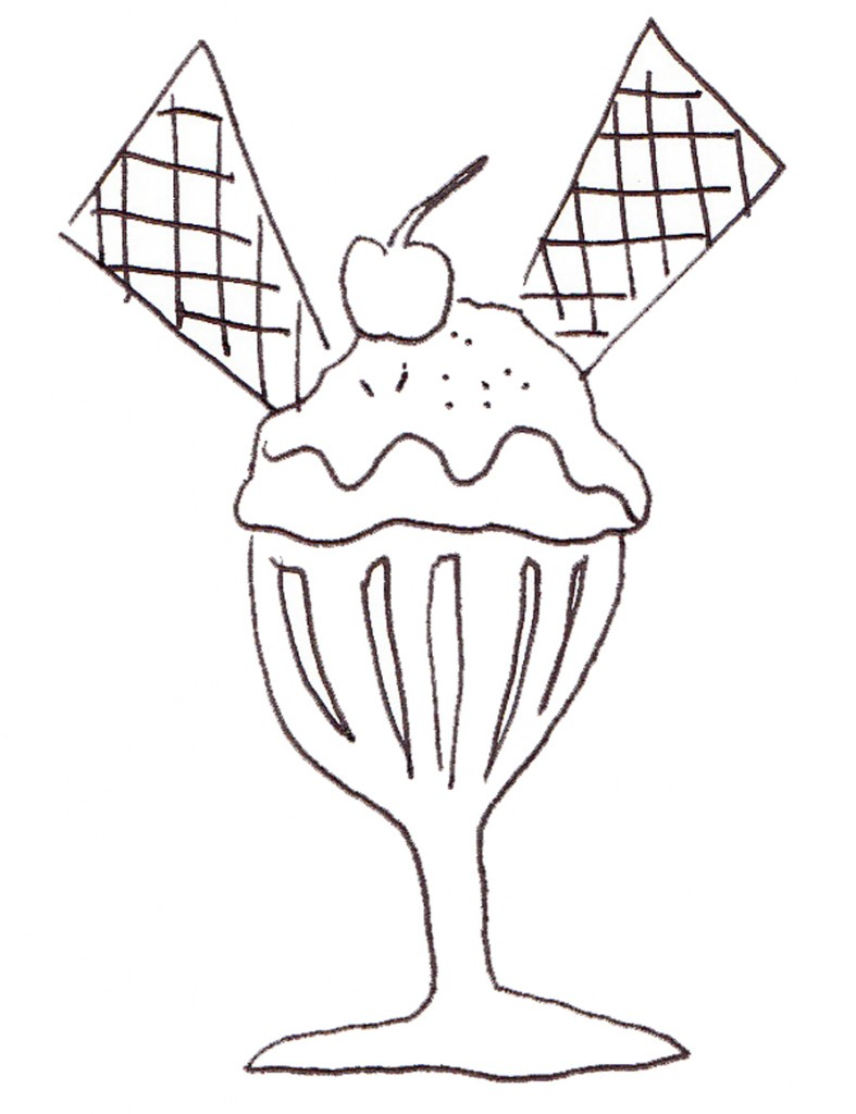 Free coloring pages ice cream sundae - Ice Cream Sundae Coloring Pages Az Coloring Pages