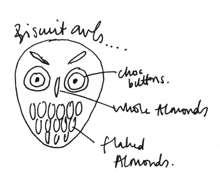 biscuit owl sketch