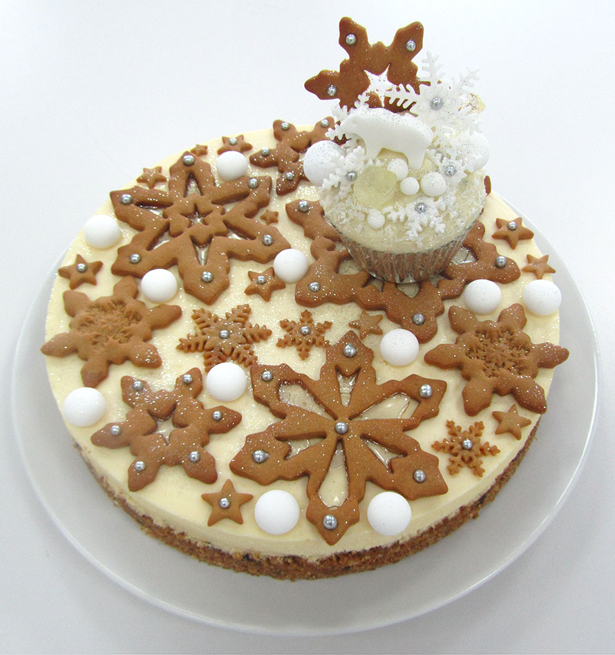 snowy cheesecake