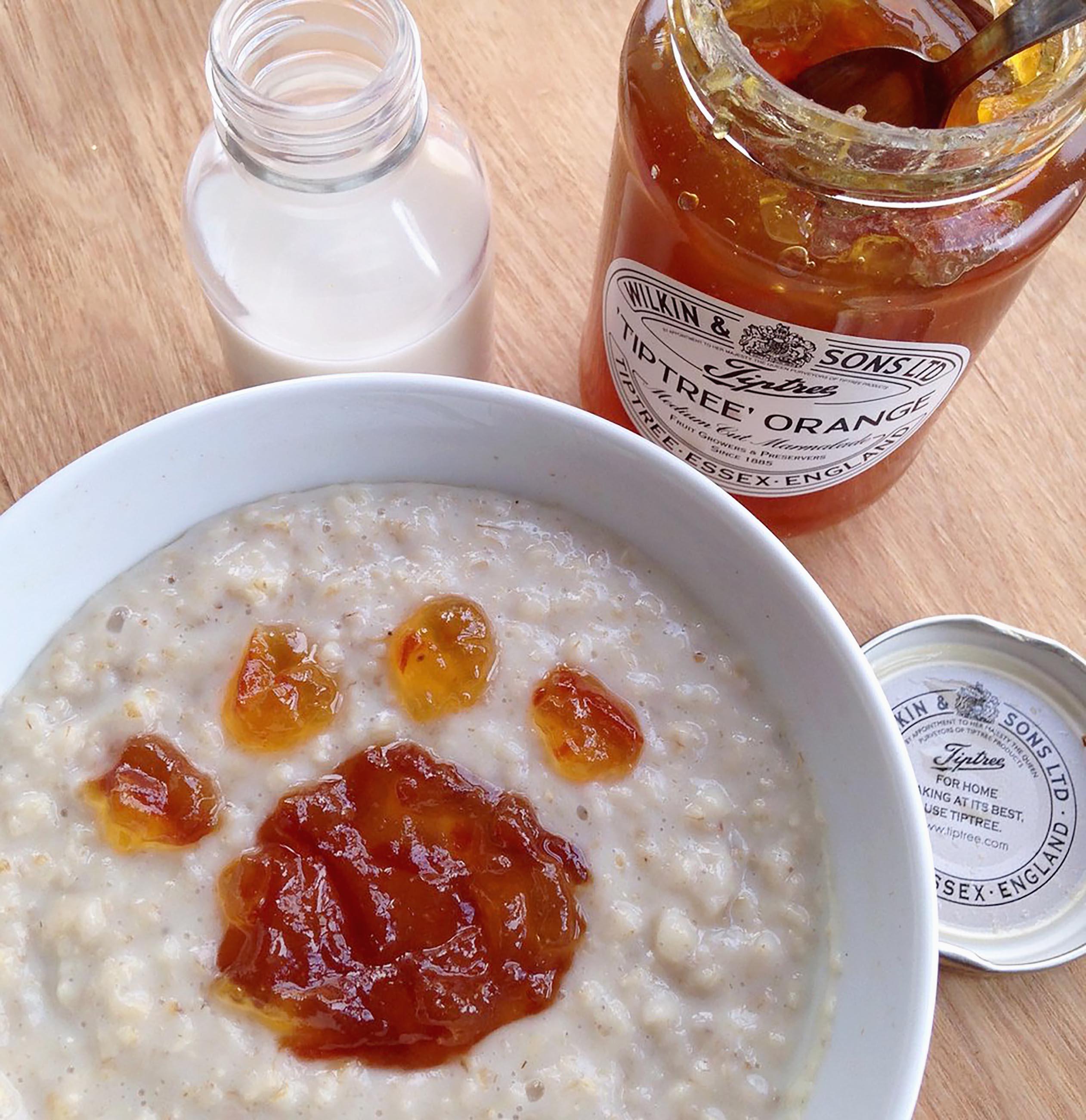 marmalade porridge